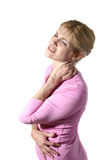 Femme avec douleur cervicale grave 10 Photo libre de droits