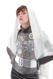 Femme avec l'écharpe Image libre de droits