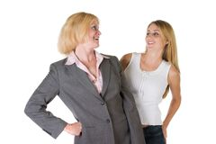 Femme avec l'équipe 2 d'entreprise très petite Photographie stock libre de droits
