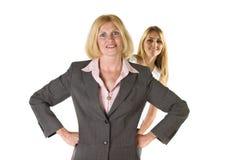 Femme avec l'équipe 3 d'entreprise très petite Image libre de droits