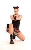 Femme avec l'arme. photographie stock libre de droits