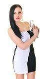 Femme avec l'arme à feu Photo libre de droits