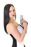 Femme avec l'arme à feu Images stock