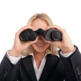 Femme avec l'oculaire Photo libre de droits