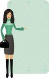 Femme avec l'offre de l'hiver Images stock