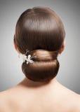 Femme avec la belle coiffure image stock