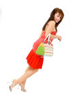 Femme avec la bourse 2 images stock