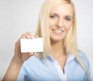 Femme avec la carte photo libre de droits