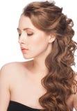 Femme avec la coiffure photos libres de droits