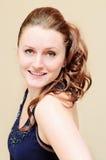 Femme avec la coiffure de partie Photo stock