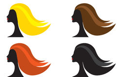 Femme avec la couleur différente de cheveu Photo stock