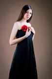 Femme avec la fleur photos libres de droits