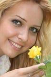 Femme avec la fleur Image stock