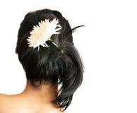 Femme avec la fleur dans le cheveu Photographie stock libre de droits