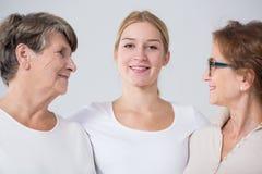 Femme avec la grand-mère et la mère Photographie stock libre de droits
