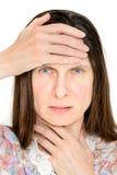 Femme avec la grippe Photographie stock