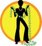 Femme avec la guirlande de fleurs Photo libre de droits