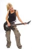 Femme avec la guitare image stock