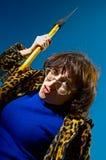 Femme avec la hache photo libre de droits