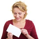 Femme avec la lettre Images libres de droits