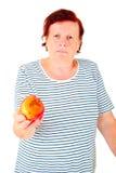 Femme avec la pomme Photos stock