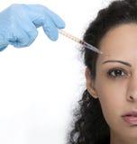 Femme avec la seringue Photo libre de droits