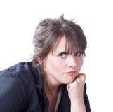 Femme avec la tête sur sa verticale de poing photo libre de droits