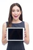 Femme avec la tablette digitale Image stock