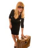 Femme avec le bagage Photo stock