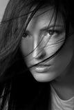 Femme avec le beau cheveu Photographie stock libre de droits