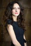 Femme avec le beau cheveu Image libre de droits