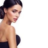 Femme avec le beau maquillage lumineux Images libres de droits