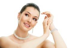Femme avec le bijou