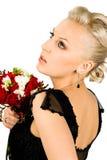 Femme avec le bouquet photographie stock libre de droits