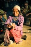 Femme avec le capuchon Images libres de droits