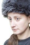 Femme avec le chapeau Photos stock