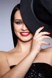 Femme avec le chapeau Photos libres de droits