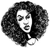 Femme avec le cheveu bouclé illustration libre de droits