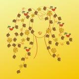 Femme avec le cheveu d'automne Image stock