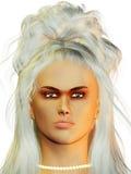 Femme avec le cheveu de ruche Images libres de droits