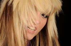 Femme avec le cheveu en désordre Photographie stock libre de droits