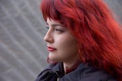 Femme avec le cheveu rouge Photo libre de droits