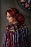 Femme avec le cheveu rouge photos libres de droits