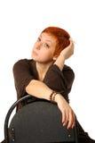 Femme avec le cheveu rouge Photographie stock libre de droits