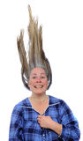 Femme avec le cheveu vers le haut Photos libres de droits