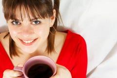 Femme avec le cofee photos stock