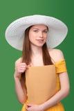 Femme avec le colis photos stock
