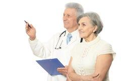 Femme avec le docteur Image libre de droits