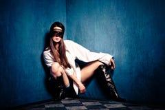 Femme avec le lacet Photo libre de droits