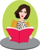Femme avec le livre Photographie stock